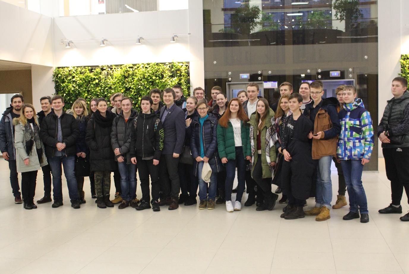 Встреча учеников из Выборгского политехнического колледжа