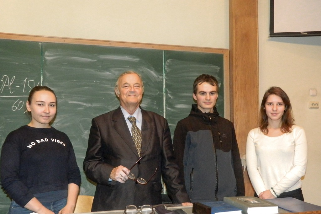 Встреча студентов ИММиТ с заслуженным металлургом РФ, выпускником ММФ 1960 года Хомовым С.Н.