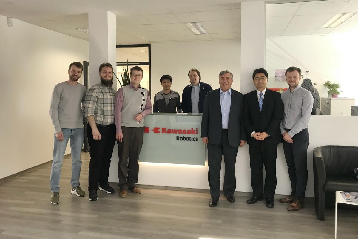 Деловой визит делегации ИММиТ в «Kawasaki Robotics GmbH», Германия.
