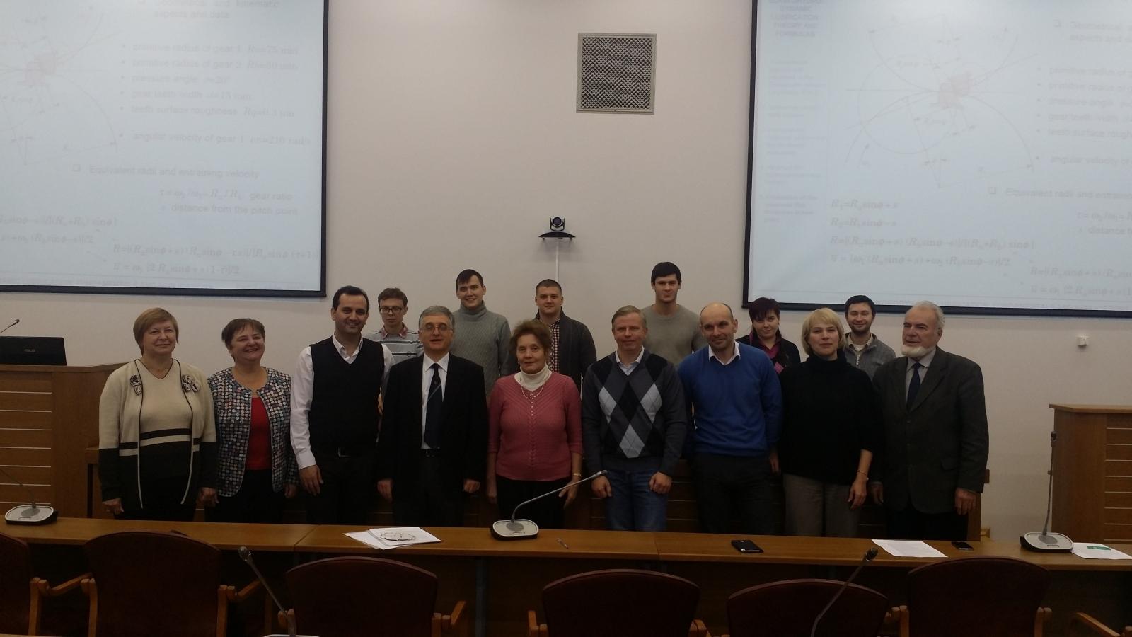 Встреча с Ведущим учёным Италии по трибологии, д.т.н., профессором Пизанского Университета.